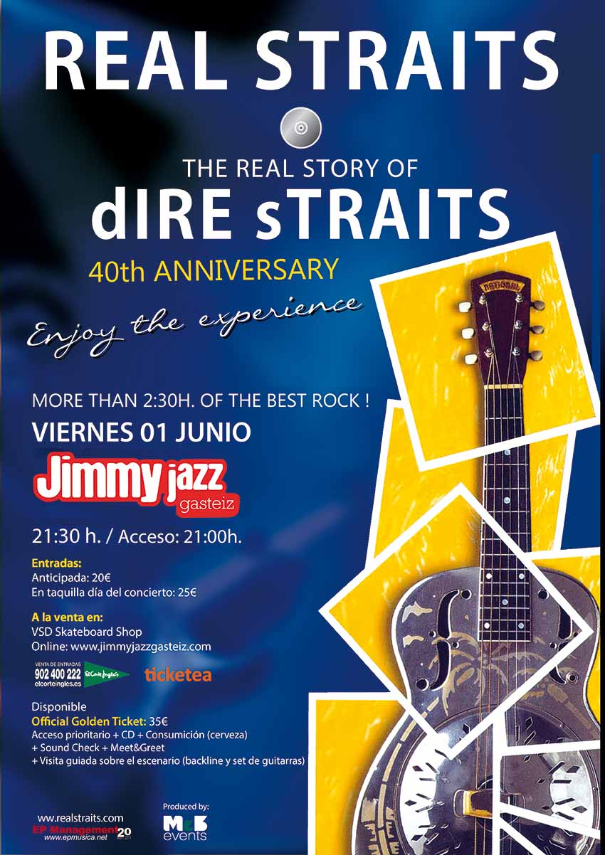 "Real Straits ""The Real Story of dIRE sTRAITS"" - Jimmy Jazz Gasteiz"