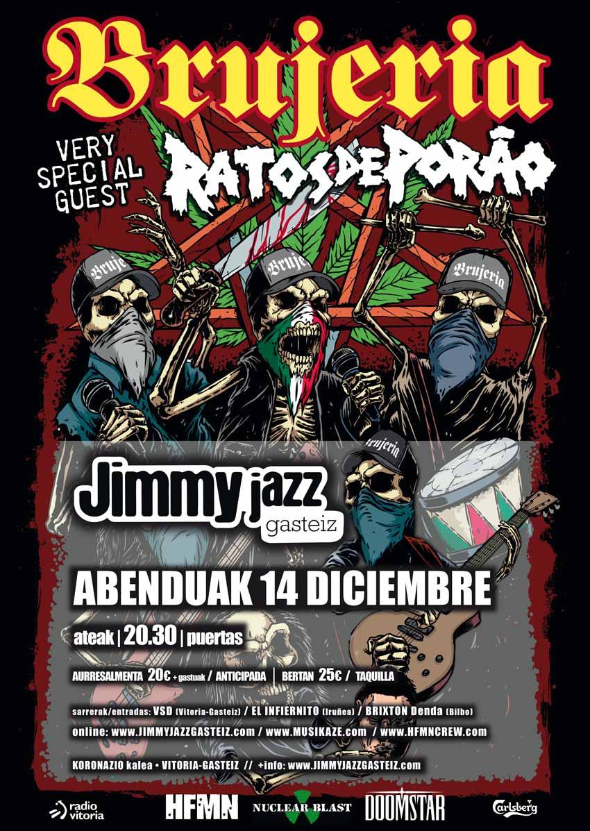BRUJERÍA + Ratos De Porao - Jimmy Jazz Gasteiz