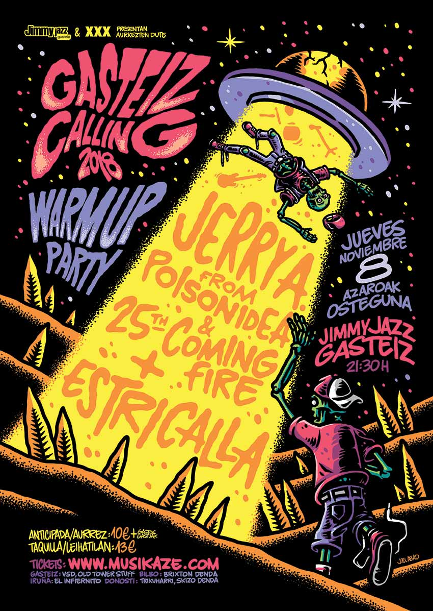 WARM UP PARTY GASTEIZ CALLING 2018 - Jerry A. & 25th Coming Fire + Estricalla