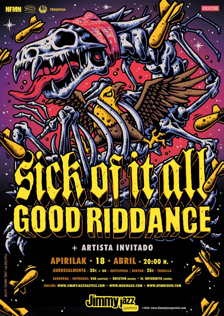 SICK OF IT ALL + GOOD RIDDANCE - Jimmy Jazz Gasteiz