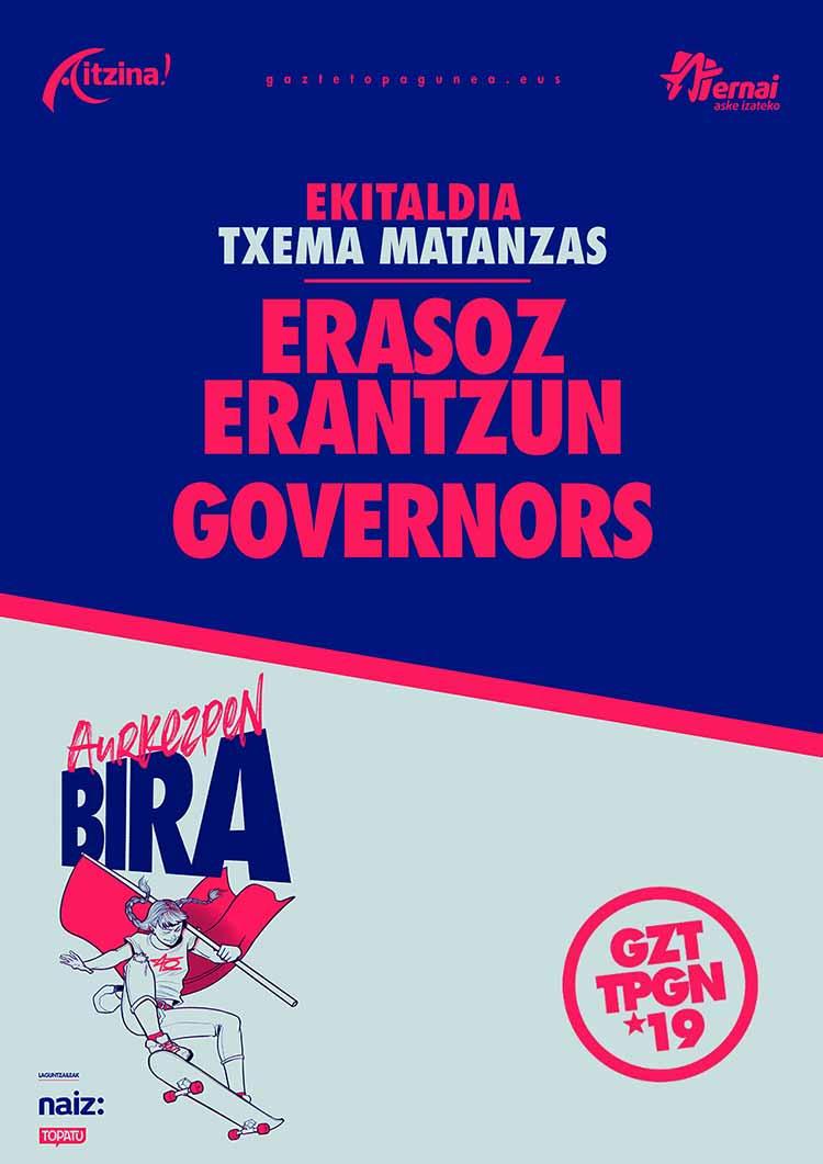 GAZTE TOPAGUNEA: ERASOZ ERANTZUN + GOVERNORS - Jimmy Jazz Gasteiz