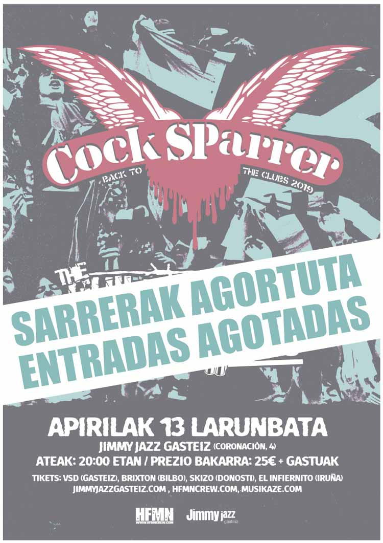 COCK SPARRER + The Guilty Brigade + Brigade Loco - Jimmy Jazz Gasteiz
