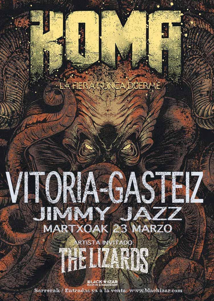KOMA + The Lizards - Jimmy Jazz Gasteiz