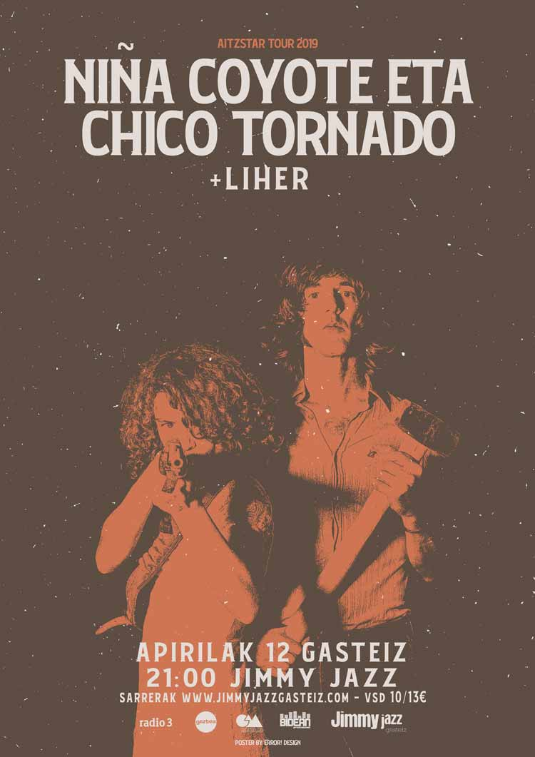 NIÑA COYOTE ETA CHICO TORNADO + Liher - Jimmy Jazz Gasteiz