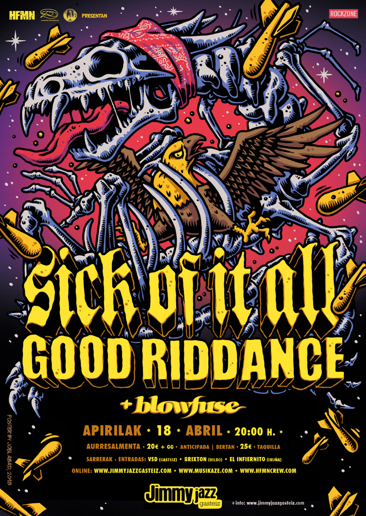 SICK OF IT ALL + GOOD RIDDANCE + Blowfuse - Jimmy Jazz Gasteiz