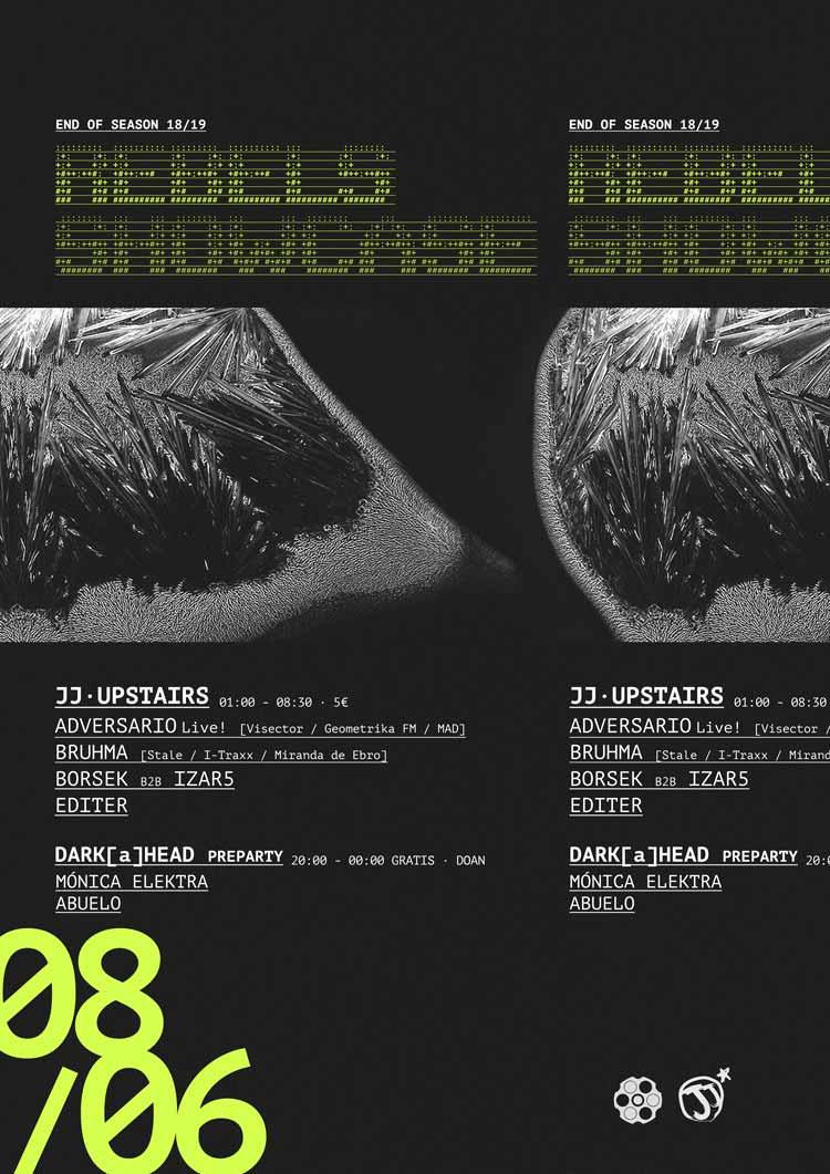 ADVERSARIO Live! + BRUHMA + BORSEK b2b IZAR5 + EDITER - #JjUPstairs