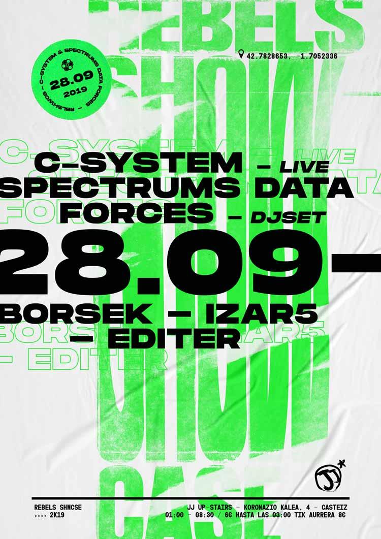 C- SYSTEM Live! + SPECTRUMS DATA FORCES Dj Set + BORSEK + IZAR5 + EDITER - #JjUPstairs