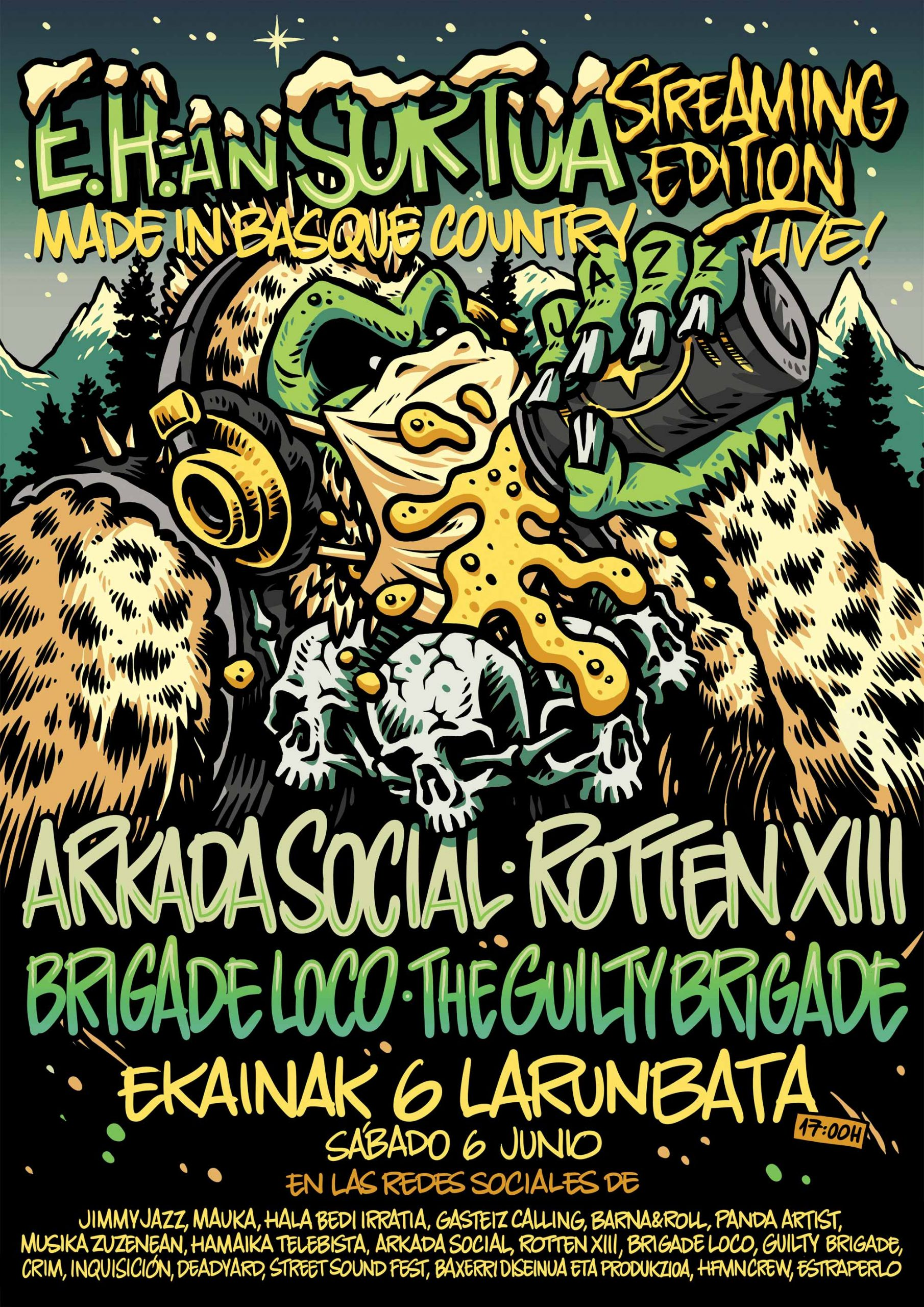 Arkada Social + Rotten XIII + Brigade Loco + The Guilty Brigade - Jimmy Jazz Gasteiz